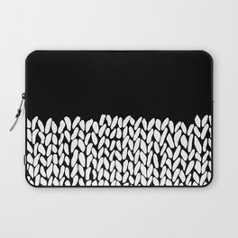 Half Knit  Black Laptop Sleeve