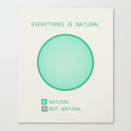Everything is Natural Canvas Print