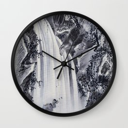 Waterfall, Eagle And Monkey - Digital Remastered Edition Wall Clock