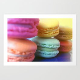 Macaron Rainbow 1 Art Print