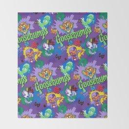 Goosebumps 90's Pattern Throw Blanket