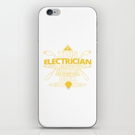 This ELECTRICIAN iPhone Skin