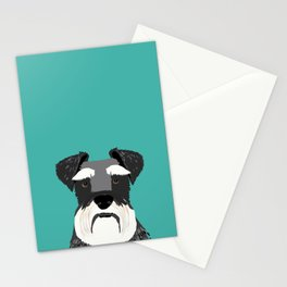 Schnauzer dog head cute gifts for schnauzers lovers dog breed art Stationery Cards