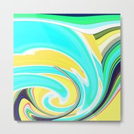 Re-Created  Sour Candy 6 by Robert S. Lee Metal Print