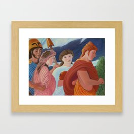 Four More Walking Deities Framed Art Print