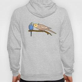 Pixel / 8-bit Parrot: Budgie and Cockatiel Hoody