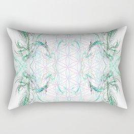 smoke on the flower of life Rectangular Pillow