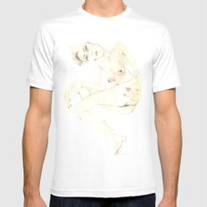 Nude 5 White MEDIUM Mens Fitted Tee