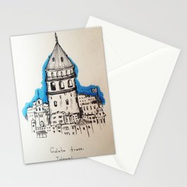 Galata in Blue Stationery Cards