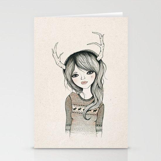 Antler Girl Stationery Cards