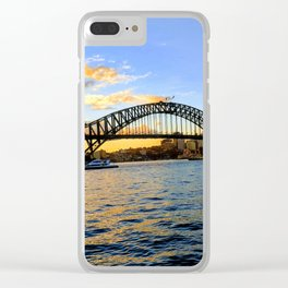 A Sunset Over The Harbour Bridge Clear iPhone Case