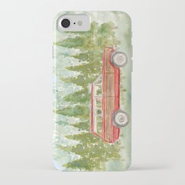 Watercolor Red Jeep Grand Wagoneer vintage iPhone Case