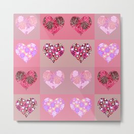 Love and hearts. Metal Print