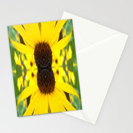 Trippy Sunflower Stationery Cards