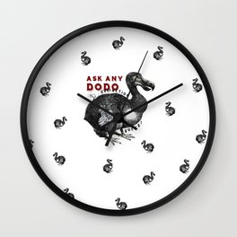 Extinction Sucks Dodo Bird Design #2 Wall Clock