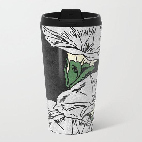 MARBLE FLOWERS (abstract) Metal Travel Mug
