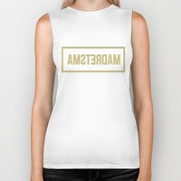 amsterdam Biker Tanks featuring Amsterdam by Karolis Butenas
