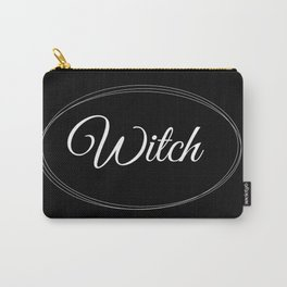 Witch Graphic Design Black | White Minimalistic Art | Simplicity Carry-All Pouch
