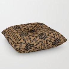 Black and Bronze Petals 2676 Floor Pillow