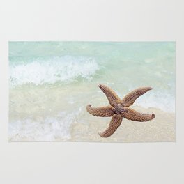 Starfish on the Beach Rug