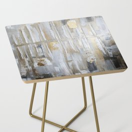 Metallic Abstract Side Table