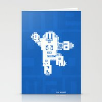 megaman Stationery Cards featuring Megaman Typographique by Boidin