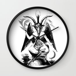 Vintage Black Magic Baphomet Wall Clock