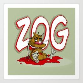 ZOG Zombie Art Print