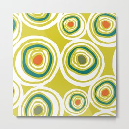 Mid-Century Modern Big Martini Olives 1950's Abstract Pattern Metal Print