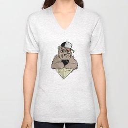 Sozoryoko Original Branding - Fancy Bear Unisex V-Neck