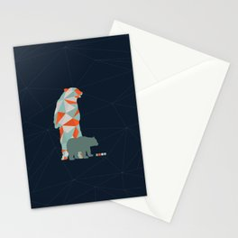 Geo Bear Stationery Cards