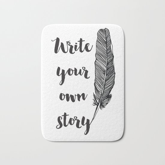 Write your own Story Bath Mat