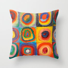 Vintage Vassily Kandinsky Color Study Squares Circles 1913 Throw Pillow