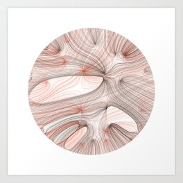 Generative Mars Drawing: Mare Sinus Art Print