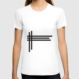 Inverse Interlaced Lines T-shirt