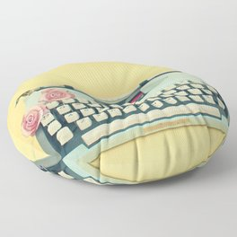 The Typewriter Floor Pillow