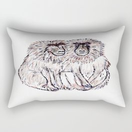Baboons Rectangular Pillow