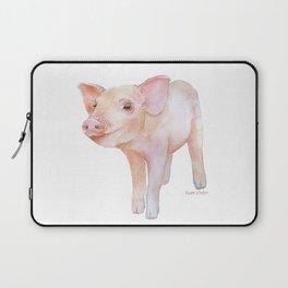 Piglet 2 Watercolor Painting Laptop Sleeve