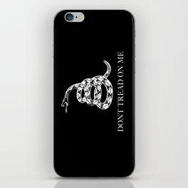 Don't Tread On Me Snake Flag, white snake version iPhone Skin