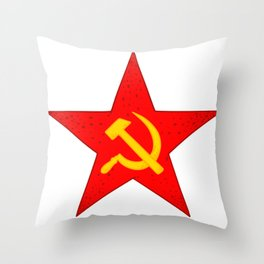 USSR red star Throw Pillow