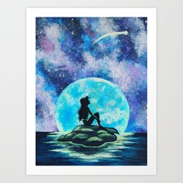 Mermaid dreams Art Print