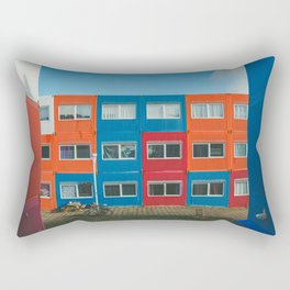 Colorful Container house Amsterdam Rectangular Pillow