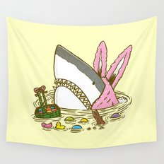 The Easter Shark Wall Tapestry
