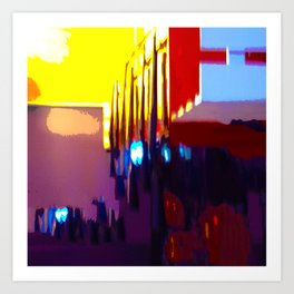 At The Bowling Alley Art Print