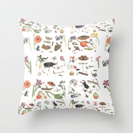 Common place miracles -Natural History Part 1 Throw Pillow