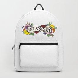 Floral Introvert Banner Backpack