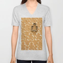 Gingerbread Cookies Unisex V-Neck