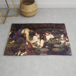 John William Waterhouse - Hylas and the Nymphs - 1896 Rug