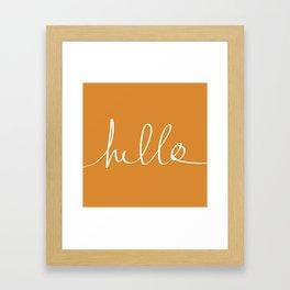 Hello, Pumpkin Framed Art Print