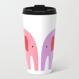 Pink and Purple Elephants Travel Mug
